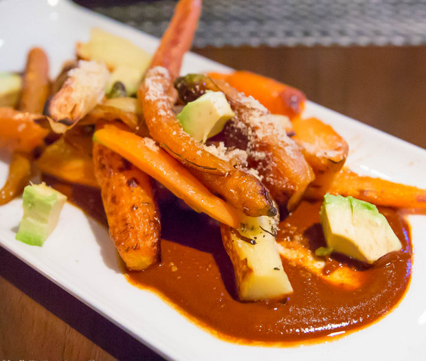 photo of Fire Roasted Carrots, Mole, Avocado