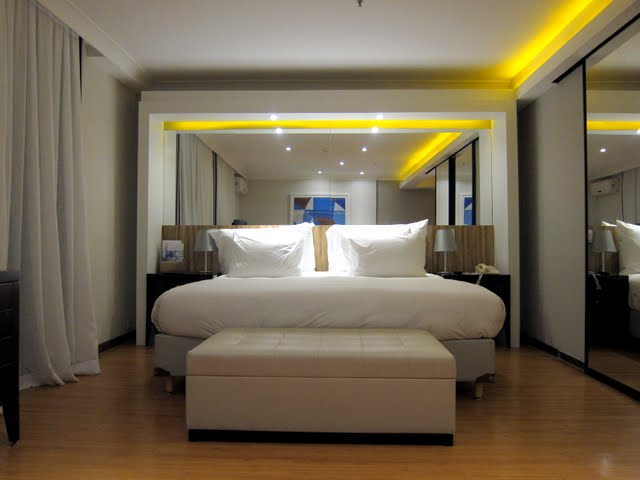 Guest room at the Pestana Rio Atlantica Hotel on Copacabana Beach in Rio de Janeiro Brazil