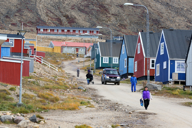 Qaanaaq, the northernmost village in Greenland. As the climate changes, the hunting seasons have changed, threatening the local population's ability to survive. Photo: Whitney Shefte / The Washington Post