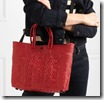 Red Woven Raffia Effect Cross Body Bag