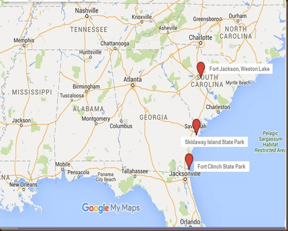 Fort Jackson South Carolina Map Mud on the tires Full time RV Adventure: SC, GA, FL    Fort