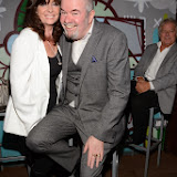WWW.ENTSIMAGES.COM -    Vicki Michelle and Gary Bushell   at     Gary Bushell - Face Down The book Launch Party at Golden Bee Singer Street London October 16th 2013                               Photo Mobis Photos/OIC 0203 174 1069