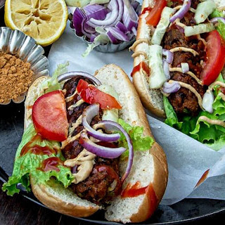 Sweet Potato and Cabbage Dogs [Vegan]