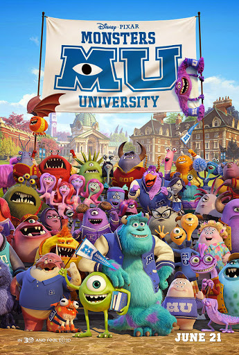 Μπαμπούλες Πανεπιστημίου Monsters University Movie Poster