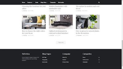 Helvetica premium blogger template