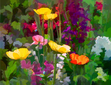 """The """"California Poppies"""" piece from the """"2002"""" collection"""