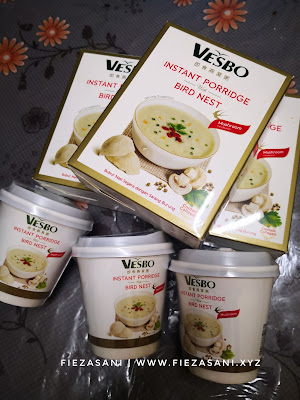 vesbo instant porridge,bubur nasi segera