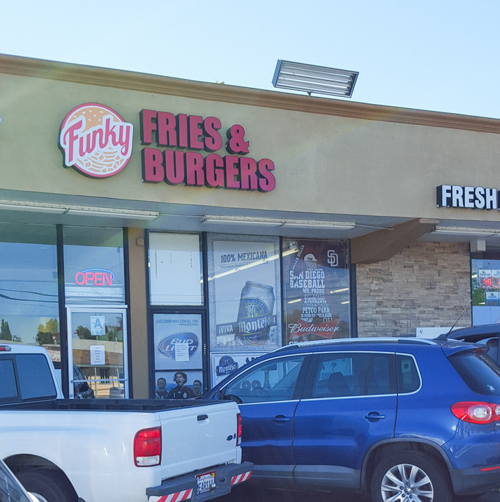 photo of the outside of Funky Fries & Burgers