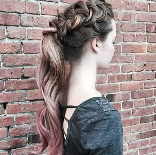 Delicate Braided Ponytail Hairstyle