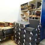 Archives de Paris : salle de préparation des archives