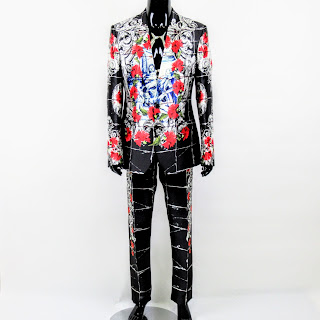 Dolce & Gabbana NEW Red/Black 3-Piece Suit  Sz 48