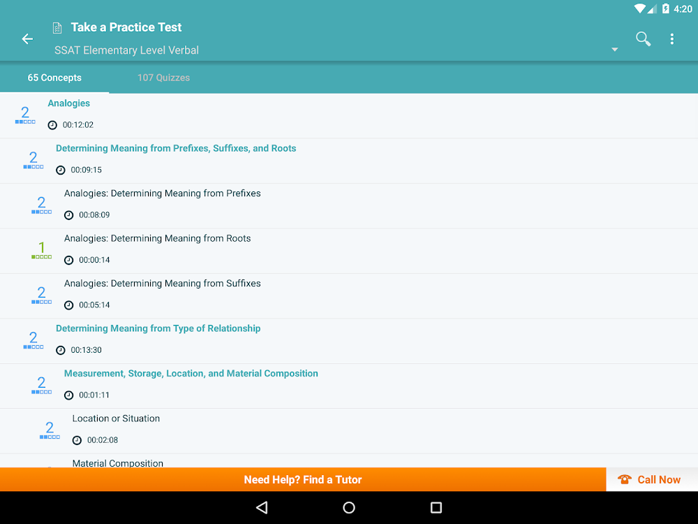 SSAT Prep: Practice Tests, Flashcards, Quizzes – (Android