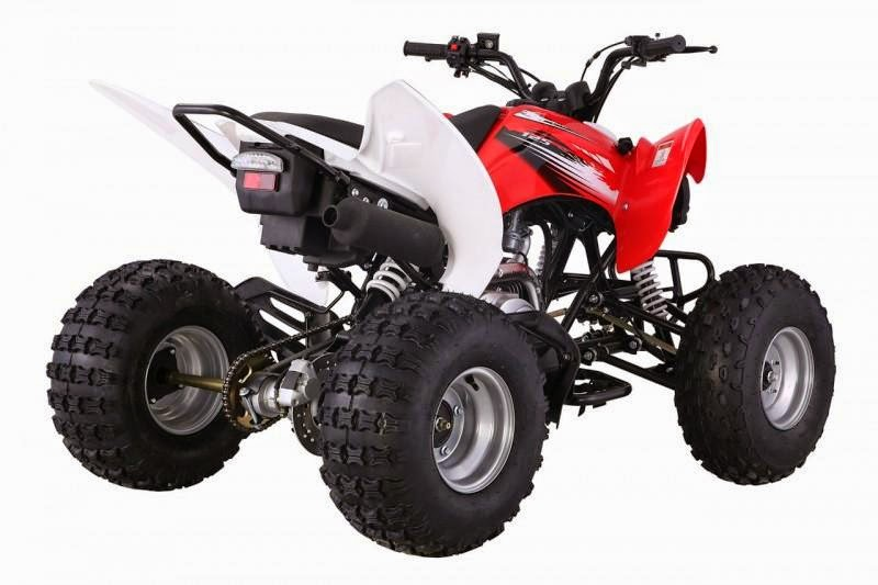 125cc Raptor Style Series 2 Feral Sports Quad Bike -Red Side