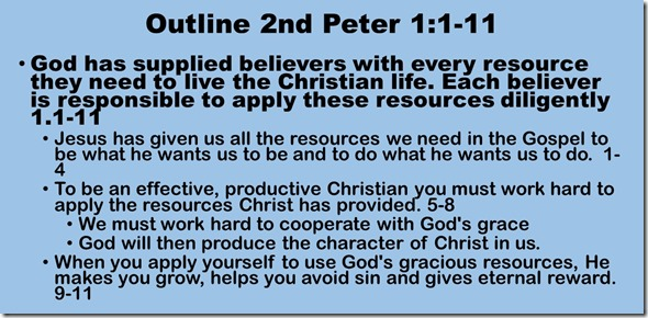 Outline 2 Peter 1.1-11