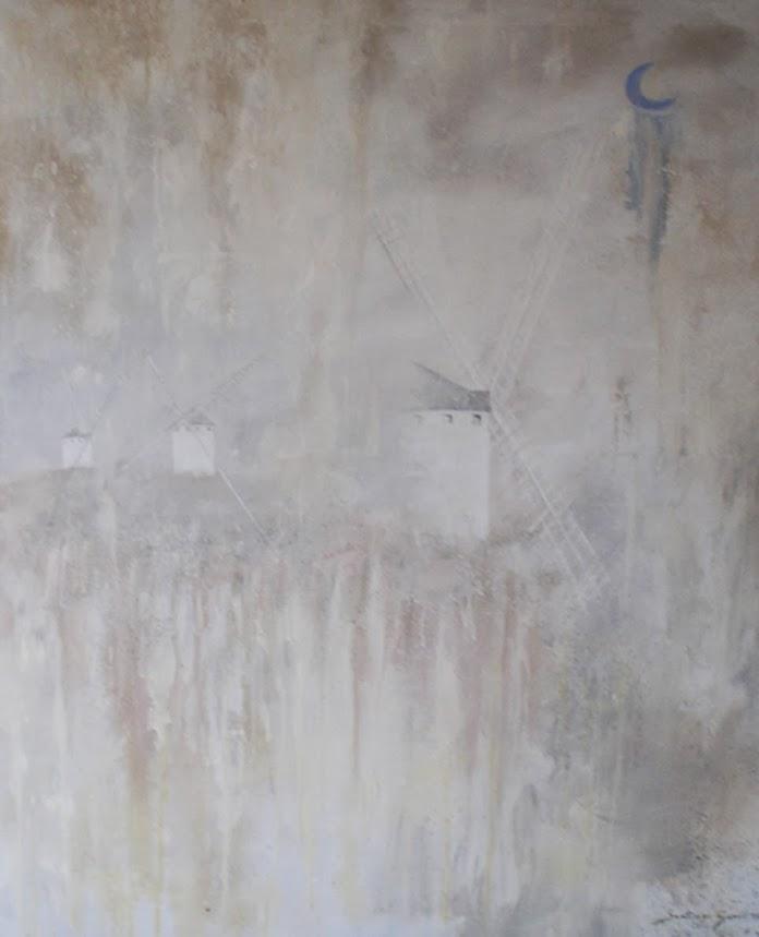 Pintura Molinos en la noche I de Santiago Garci