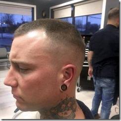 Part high razor fade