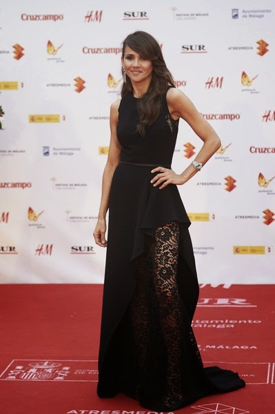 Goya Toledo attends the 18th Malaga Spanish Film Festival close ceremony