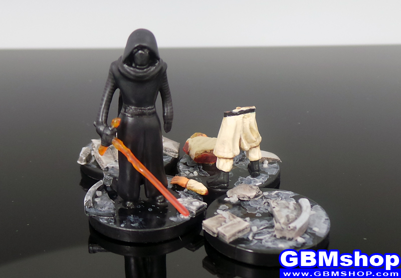 star wars miniature mini diorama Imperial Assault Kylo Ren vs Jedi Star Wars Miniatures Episode VII 7 The Force Awakens Custom Customize and Painting