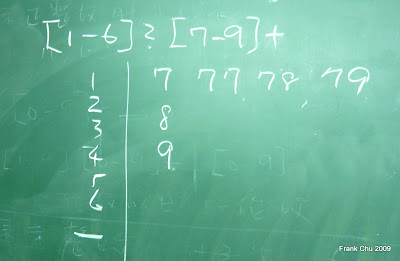 用正規表示式表示的整數集合