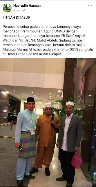 Nasruddin Tantawi Difitnah Hadari PAU. Tahu Dosa pahala tak?