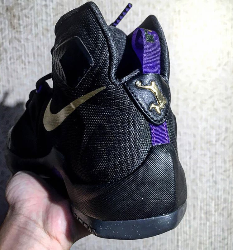 8ddf0413090 ... LeBron 13 in Black Purple Gold and with Dunkman