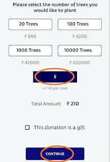 "Step 3 : Donate Trees for ""Cauvery Calling"""
