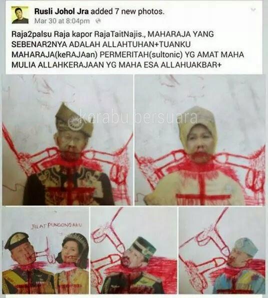 Gambar Sultan Dihina Dengan Gambar Lucah