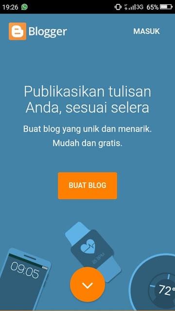 Hasan Askari: Tutorial Blogger Lengkap Menggunakan HP - #4 Mendaftar dan Membuat Blog - gambar 1