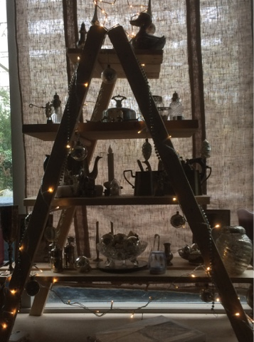 Houten ladder kerstboom