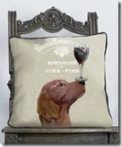 Red Setter Dog au Vin Cushion (various designs)