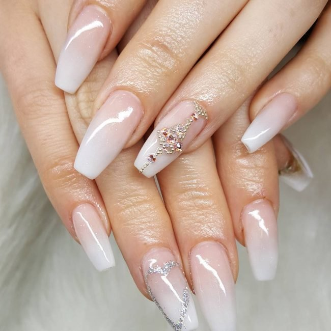 42+ Pink and White Nails for winter