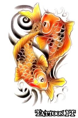 Carpas koi desenhos tattoos tatuagens for Comida para carpas koi