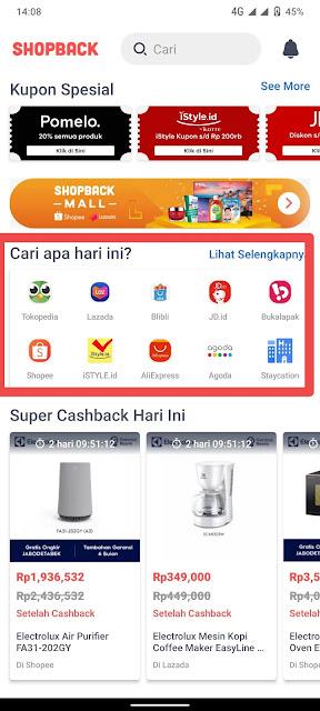 Dapat Cashback Ratusan Ribu Dengan Aplikasi Shopback