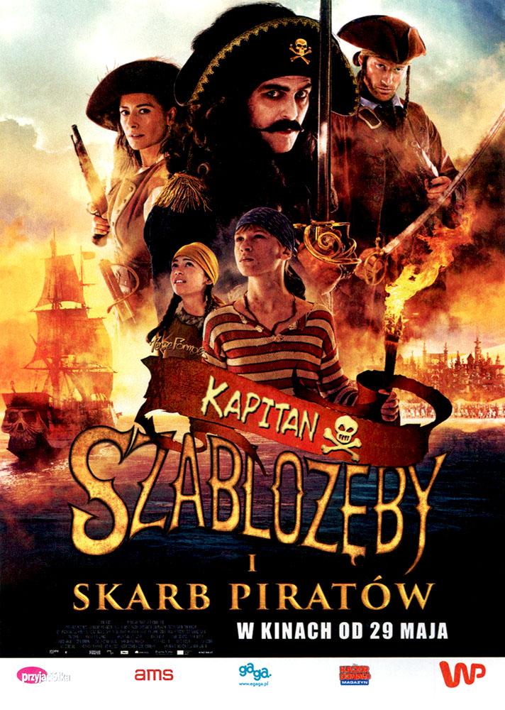 Ulotka filmu 'Kapitan Szablozęby i Skarb Piratów (przód)'