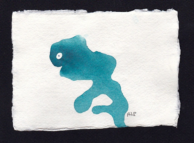 Flowing. Artist Andrea Hupke de Palacio. Experiences: An Online Gallery Show of Small Paintings