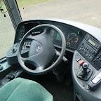 Het dashbord van de Mercedes van Deiman Tours bus 45