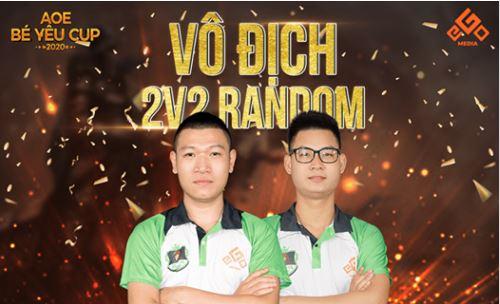 AoE Bé Yêu Cup 2020 | Vòng Chung Kết 2vs2 Random | Máy Gunny | 27-06-2020