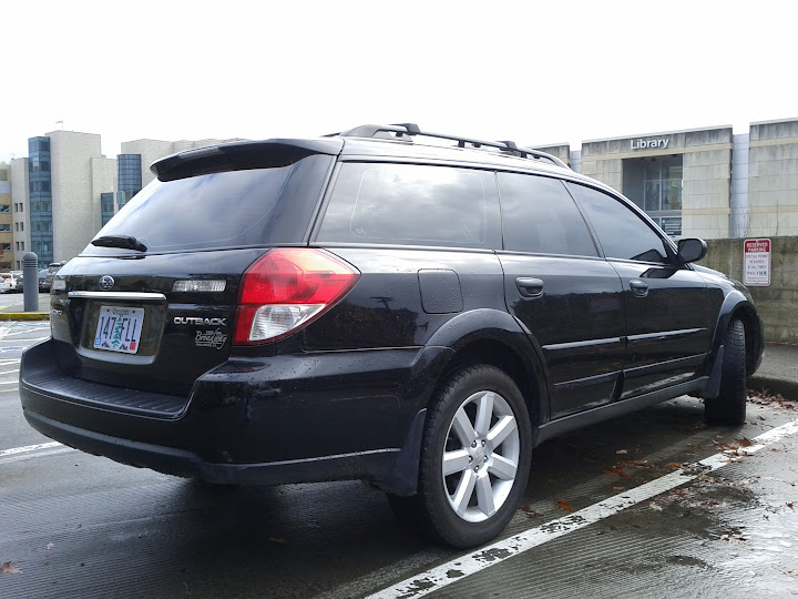 2008 subaru outback black black tinted 90k miles. Black Bedroom Furniture Sets. Home Design Ideas