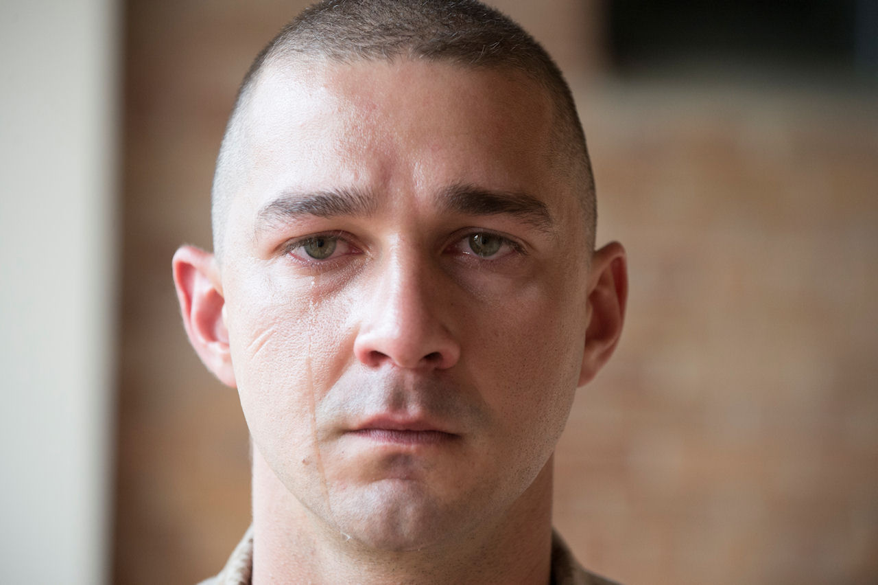 "Shia LaBeouf stars as ""Gabriel Drummer"" in MAN DOWN. (Photo courtesy of Lionsgate Premiere)."