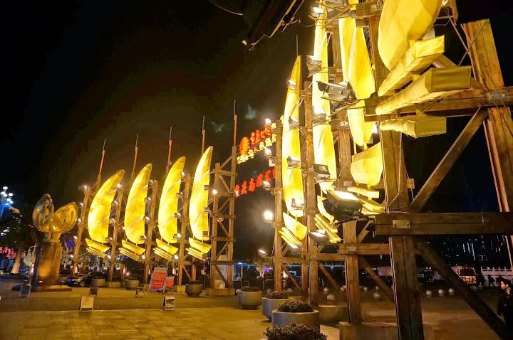 Barcos en Nanbin Road, Chongqing