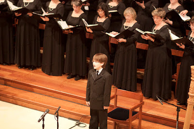 Jake Lucas, boy soprano infront of the choir...what a beautiful, pure voice.  Photos by TOM HART/  FREELANCE PHOTOGRAPHER