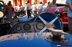 Old Race Car Cockpit