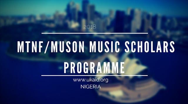 2018 MTNF/Muson Music Scholars Programme