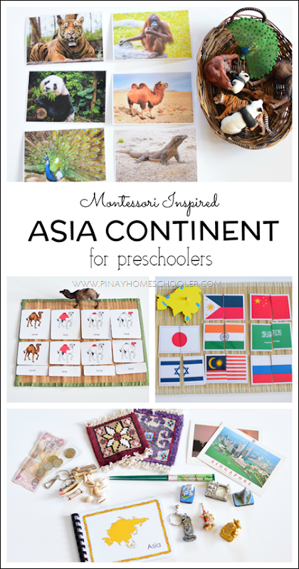 Montessori Inspired ASIA Continent for Preschoolers