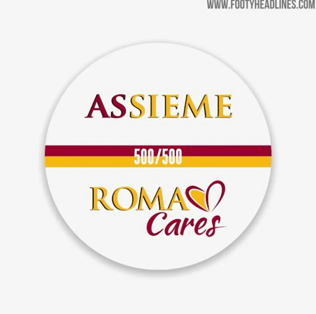 """gambar ringan logo as rom apandemik corona atau AS Roma Rilis Jersey di Tengah Pandemik Corona """"Limited Edition"""""""