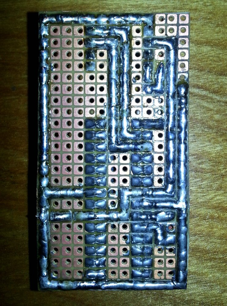 bottom of the soldered board