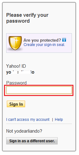 how to change my password on yahoo mail on laptop