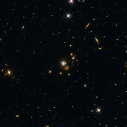 quasar ampliado por lente gravitacional
