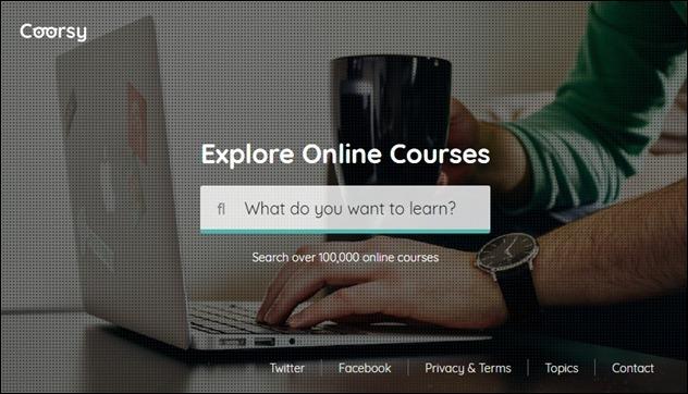 Coorsy buscador de cursos online