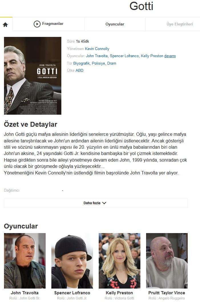 Gotti 2018 - 1080p 720p 480p - Türkçe Dublaj Tek Link indir